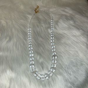 Joan Rivers clear bauble necklace